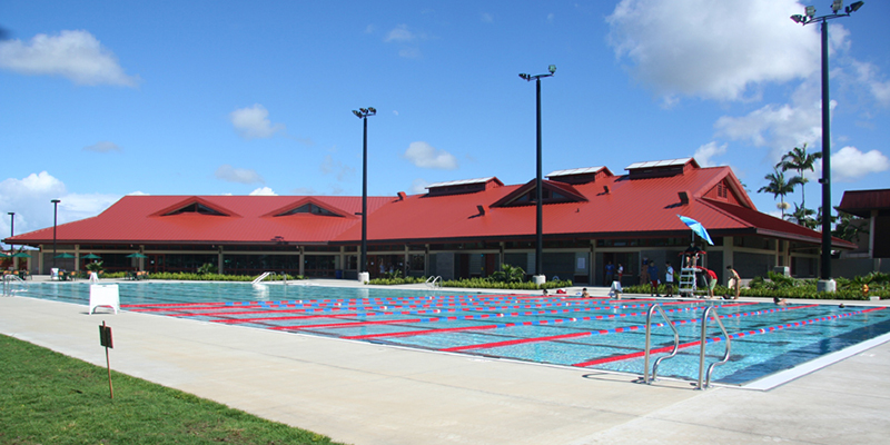 Student Life Center facility and swimming pool