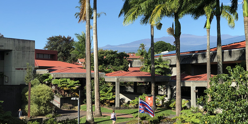 A view of the UH Hilo campus