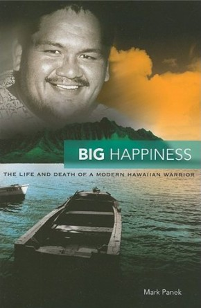 Book cover: Big Happiness wit a photo of the subject. By Mark Panek.