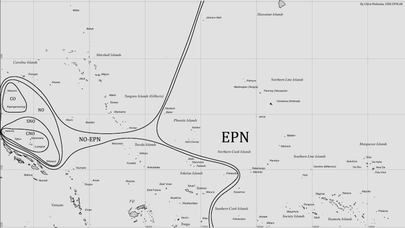 A map of the Northern Outliers and Northern East Polynesia