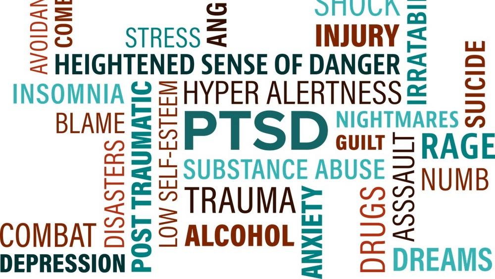Word cloud of PTSD associated words.