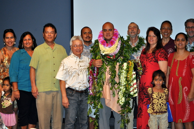 Hawaiian Language community at dissertation defense