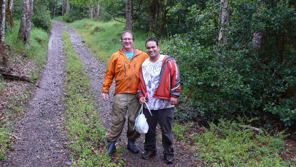 Don Price in the field with Peltin Pelep
