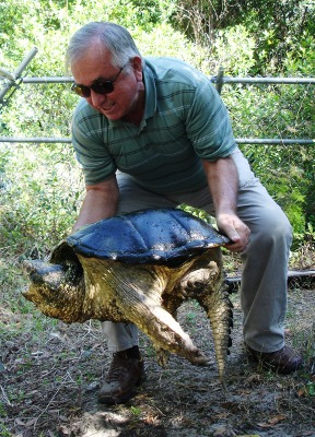 James Juvik and turtle.