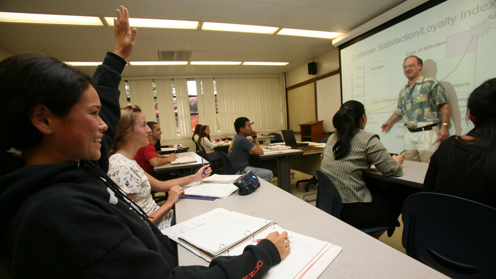 Drew Martin teaching class.