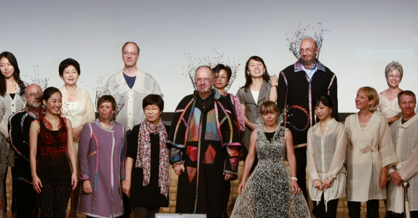 Group of people in creative global fashion.