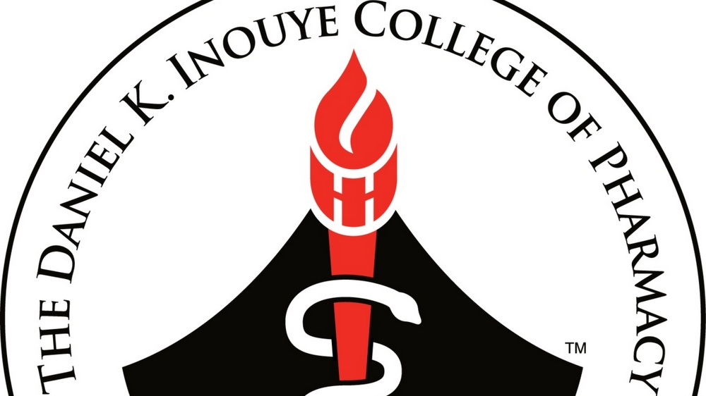 Part of logo for THE DANIEL K INOUYE COLLEGE OF PHARMACY.
