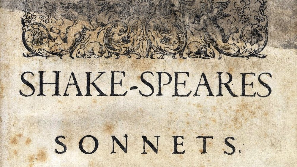 Exceprt of title page with the words: SHAKE-SPEARES SONNETS