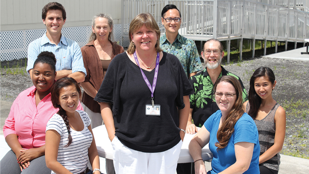 Sue Jarvi and her lab team.