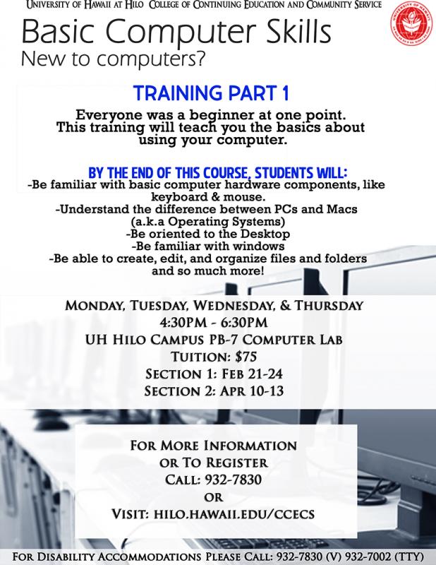 basic computer skills part 1 event details