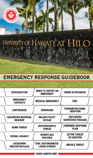 Cover of the UH Hilo Emergency Response Guidebook