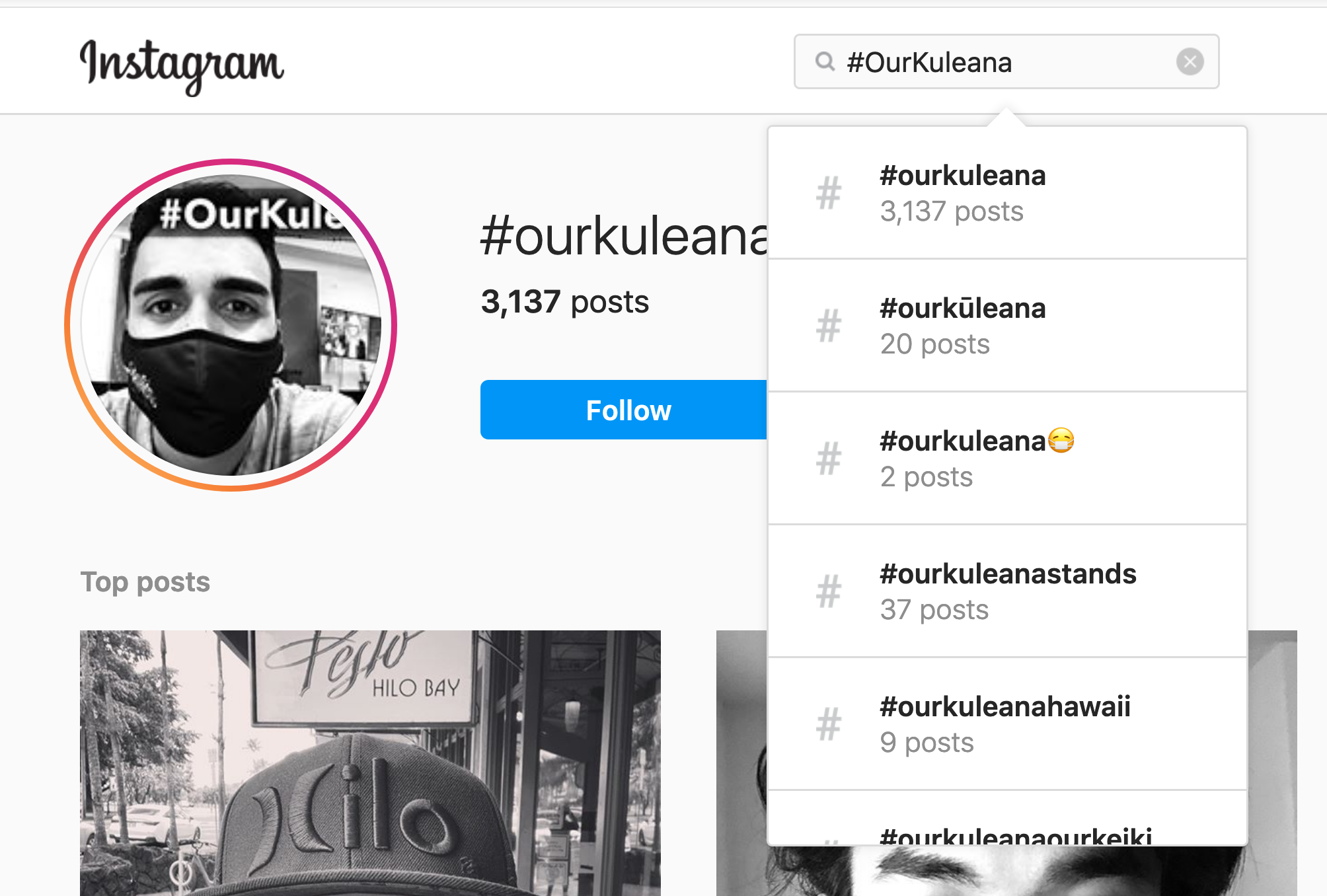 search results on instagram for the #OurKuleana hashtag