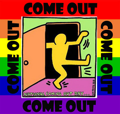 coming out logo