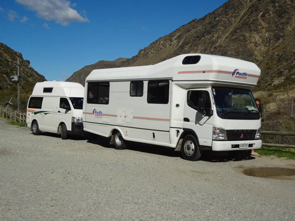 The two camper vans that were rented for the Easter break