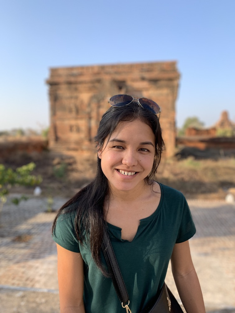 Woman smiling in Myanmar