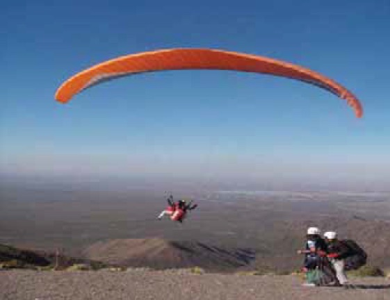 Paragliding Over the Andes