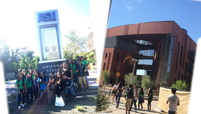 Arizona State University college campus tour