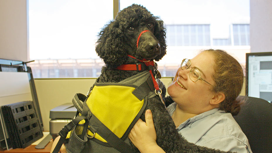 A service dog and its owner