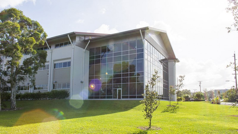The Science and Technology building houses natural sciences laboratories.