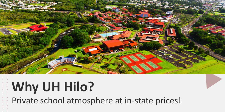 Why UH Hilo?  - Private school atmosphere at in-state prices!