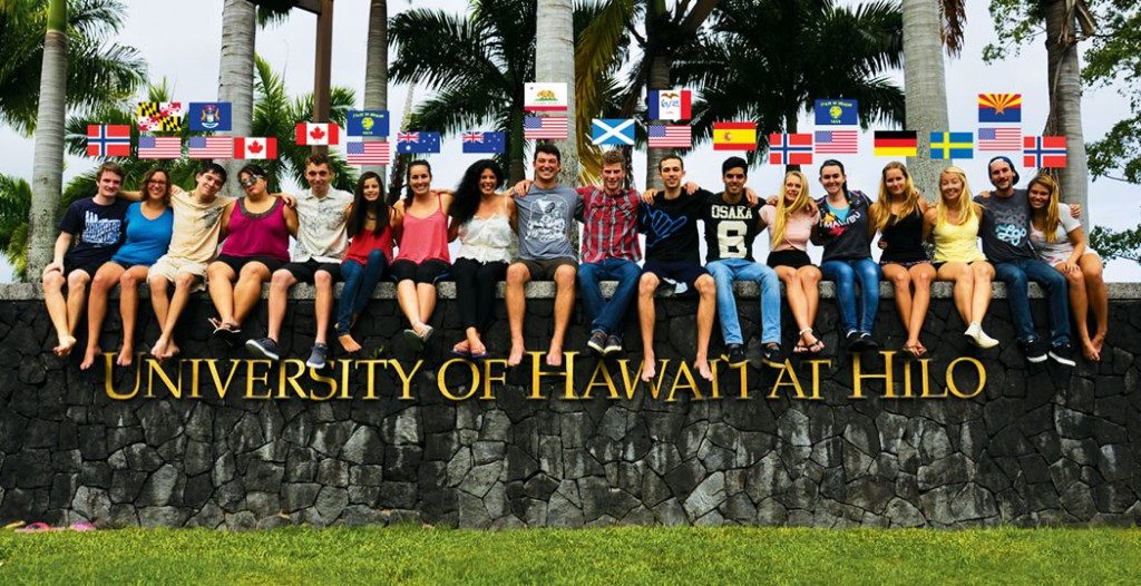 UH Hilo draws students from all over the globe with its cultural and environmental diversity.