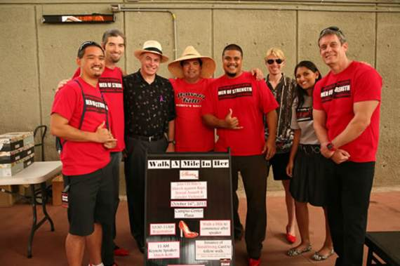 6th Annual Walk A Mile In Her Shoes, hosted by Men of Strength.