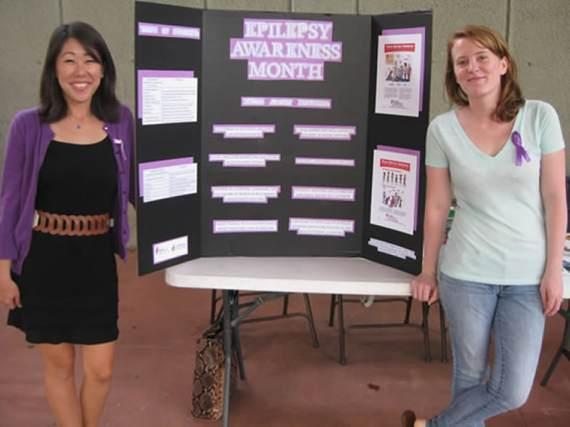 An information booth at Epilepsy Awareness Day.