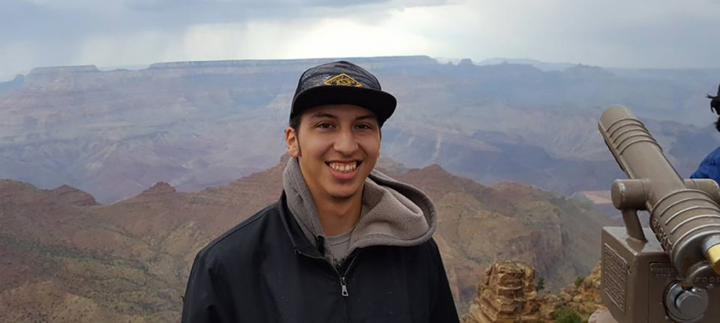 UH Hilo student Eric experiencing the Grand Canyon at Northern Arizona University