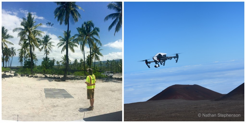 UAS over Pu`uhonua O Hōnaunau National Historical Park and Pu'u Wekiu. Photos: Nathan Stephenson