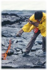 photo of CSAV student with lava