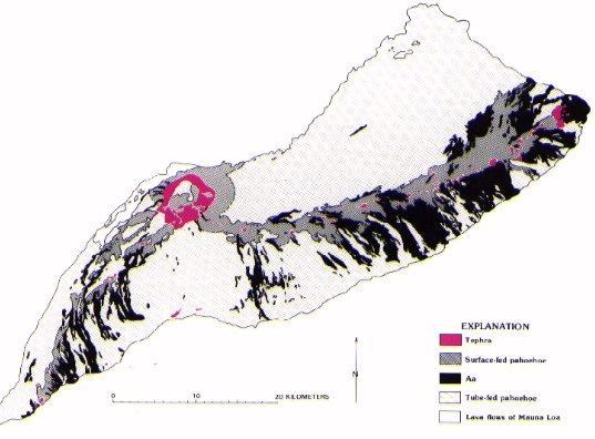 Map Of Volcanoes In Hawaii. Hawaii Volcanoes Lava Flow Map