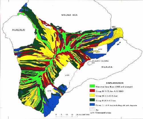 GEOL205: Mauna Loa eruptive history